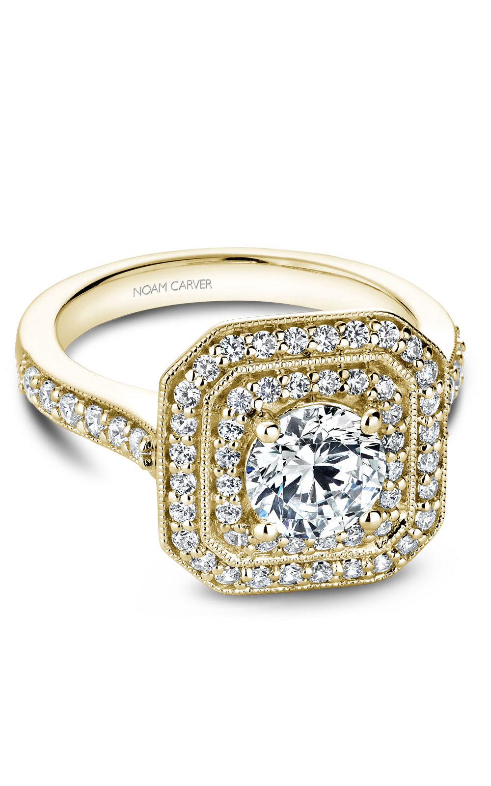 Noam Carver Halo Engagement Ring B181-01YM product image