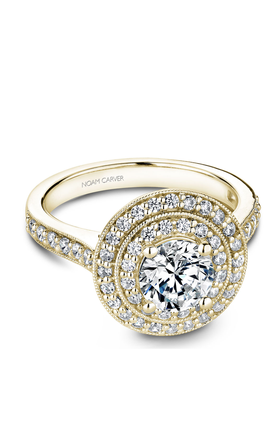 Noam Carver Halo Engagement Ring B183-01YM product image