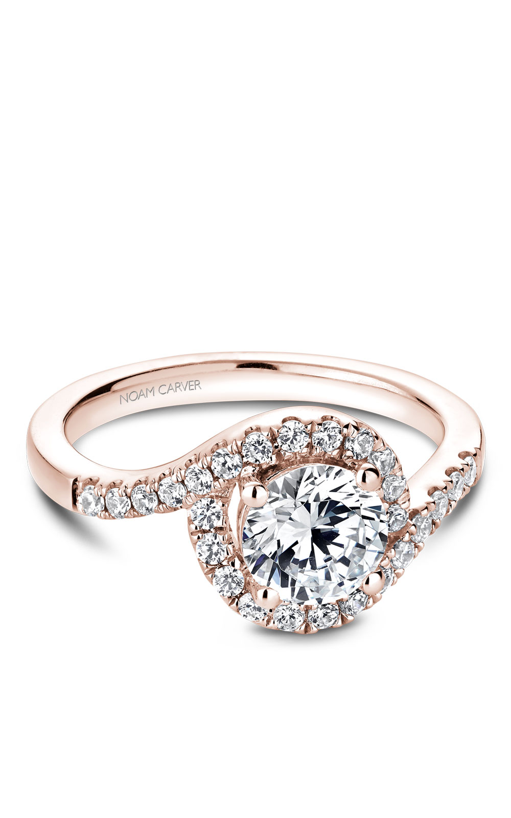 Noam Carver Halo Engagement Ring B186-01RM product image