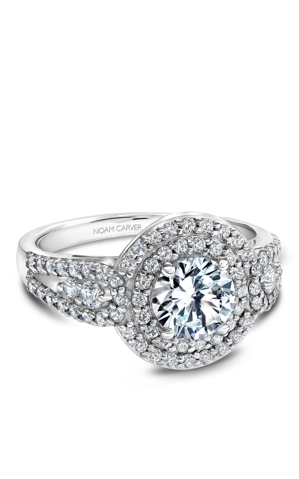 Noam Carver Halo Engagement Ring B194-01WM product image