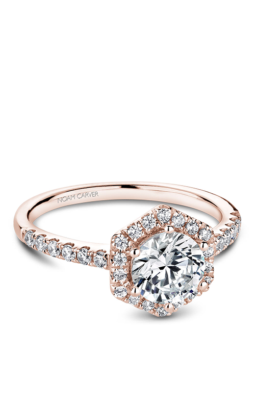 Noam Carver Halo Engagement Ring B214-01RM product image