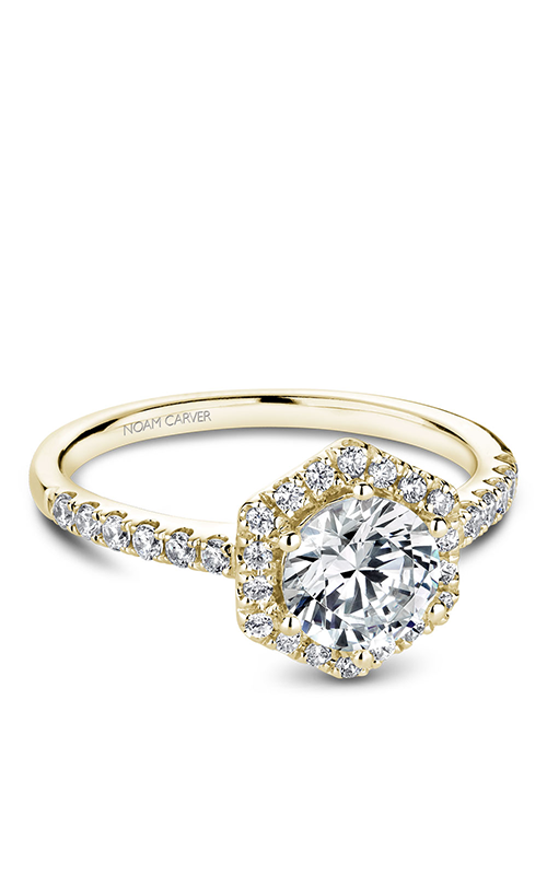 Noam Carver Halo Engagement Ring B214-01YM product image