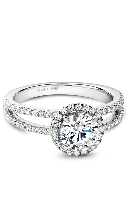 Noam Carver Halo Engagement Ring B237-01WS product image