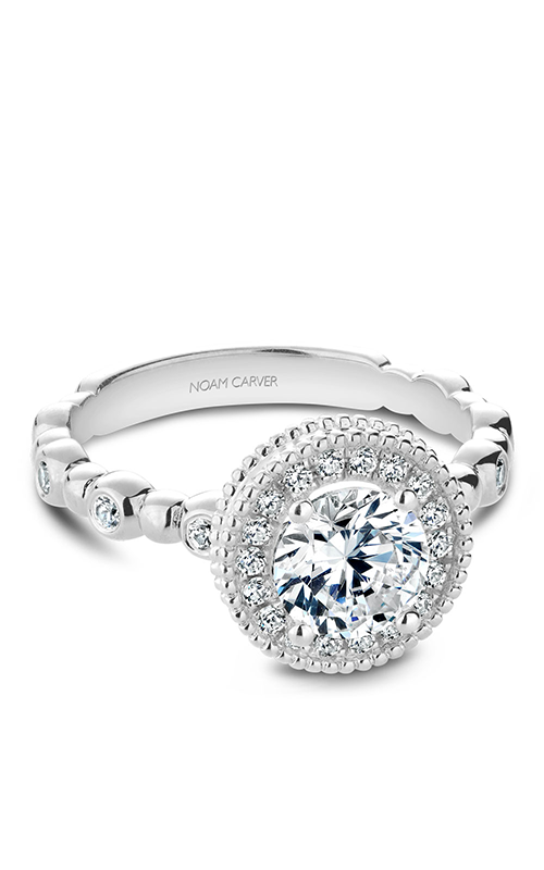 Noam Carver Halo Engagement Ring R024-01WM product image