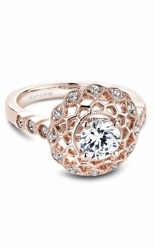 Noam Carver Floral Engagement Ring B068-01RM product image