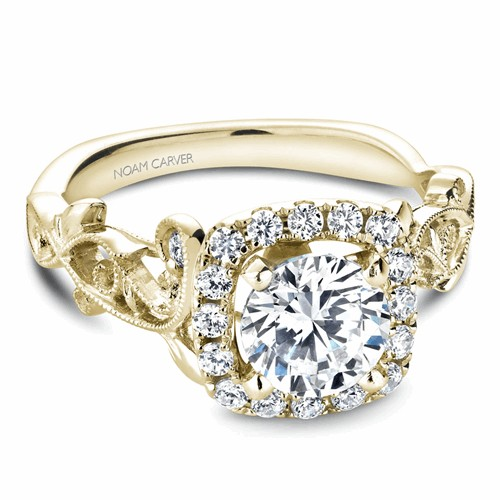 Noam Carver Floral Engagement Ring B151-01YM product image