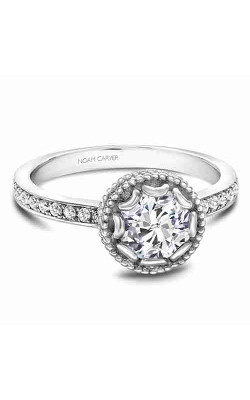 Noam Carver Floral Engagement Ring R002-01WM product image