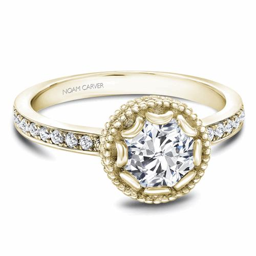 Noam Carver Floral Engagement Ring R002-01YM product image