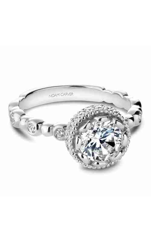 Noam Carver Floral Engagement Ring R014-01WM product image