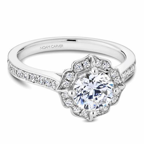 Noam Carver Floral Engagement Ring R031-01WM product image