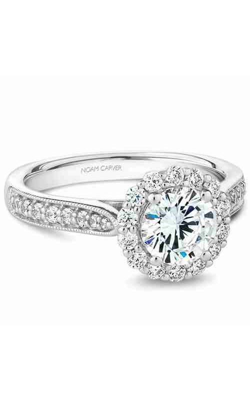 Noam Carver Floral Engagement Ring B250-01WM product image