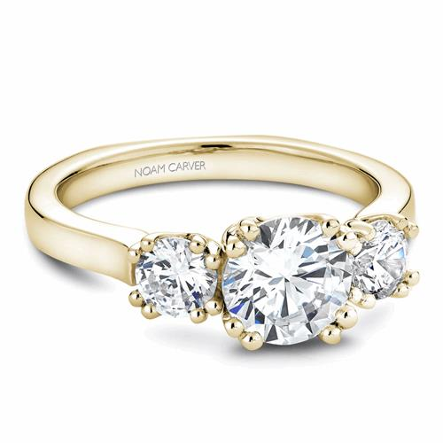 Noam Carver 3 Stone Engagement Ring B001-07YM product image