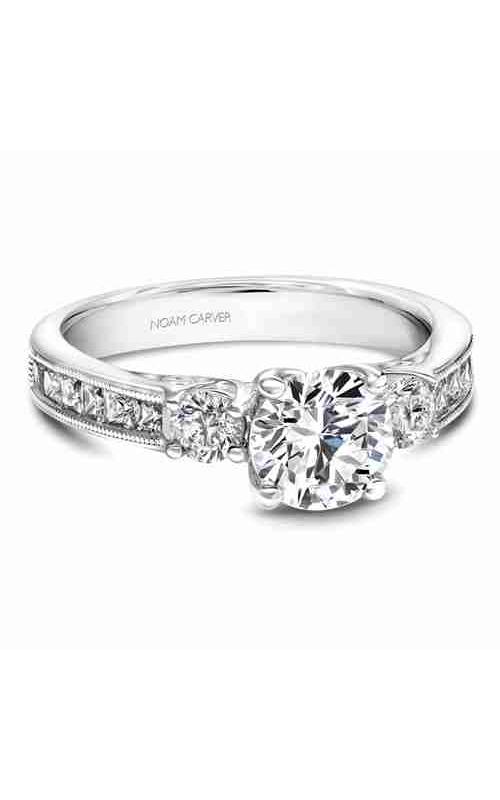 Noam Carver 3 Stone Engagement Ring B195-01WM product image