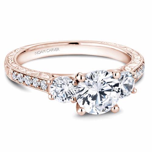 Noam Carver 3 Stone Engagement Ring B206-01RM product image