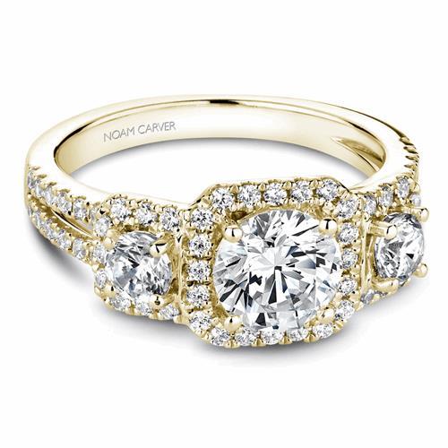 Noam Carver 3 Stone Engagement Ring B210-01YM product image