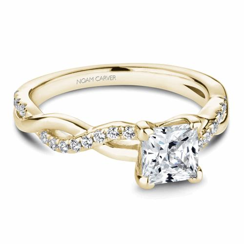Noam Carver Twist Band Engagement Ring B185-01YM product image