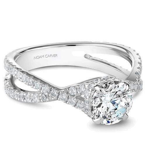 Noam Carver Twist Band Engagement Ring B241-02WM product image