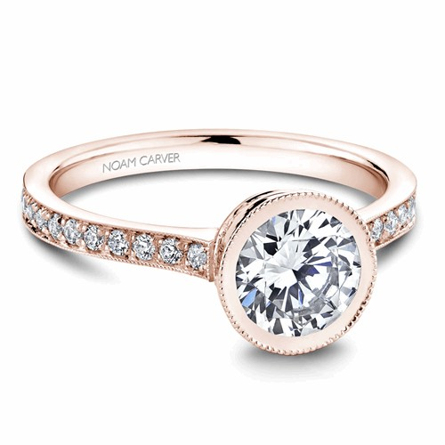 Noam Carver Bezel Engagement Ring B025-02RM product image