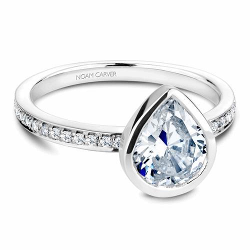 Noam Carver Bezel Engagement Ring B095-08WM product image