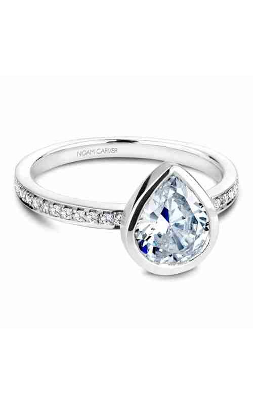 Noam Carver Bezel Engagement Ring B095-08WM product image