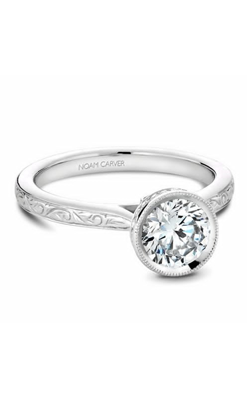 Noam Carver Bezel Engagement Ring B140-12WME product image