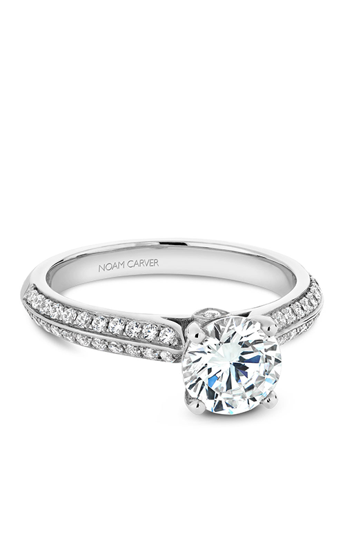 Noam Carver Halo Engagement Ring B144-06WM product image