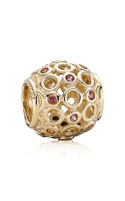 PANDORA Celtic Circles, Pink Topaz & 14K Gold 750811TPK (Retired) product image