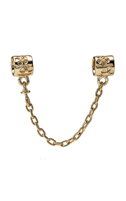 Pandora Flower Charm Safety Chain, 14K Gold 750312-05 product image