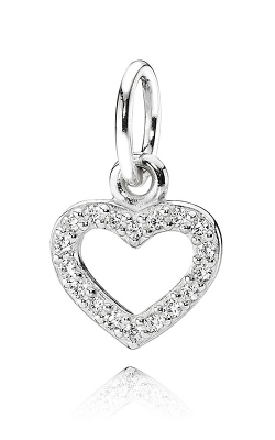 PANDORA Be My Valentine Pendant Clear CZ Pendant  390325CZ (Retired) product image