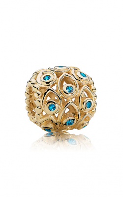 Pandora Ocean Treasures Charm Deep Blue Topaz & 14K Gold 750817TPP product image