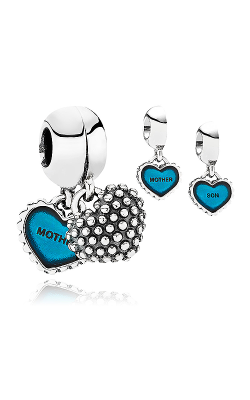 Pandora Piece Of My Heart Son Two-Part Turquoise Enamel Dangle Charm 791152EN08 product image