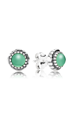 PANDORA Birthday Blooms Stud Earrings May Chrysoprase 290543CH product image