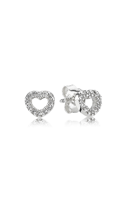 PANDORA Be My Valentine Heart Clear CZ Earrings 290528CZ product image