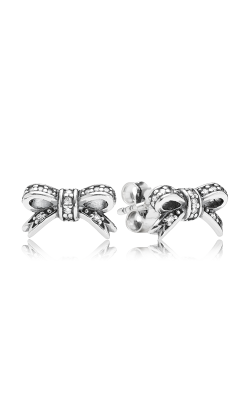 PANDORA Sparkling Bow, Clear CZ Earrings 290555CZ (Retired) product image