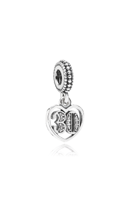 PANDORA Birthday 30 Years Of Love, Clear CZ Dangle Charm 791287CZ product image