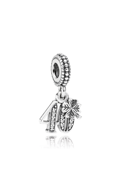 Pandora Birthday 40 Years Of Love, Clear CZ Dangle Charm  791288CZ product image