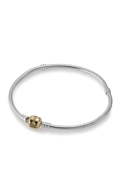 PANDORA Silver Charm Bracelet With 14K Gold Clasp 590702HG-18 product image