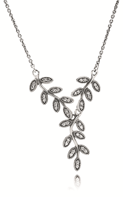 PANDORA Leaves Silver Collier, Clear CZ Necklace 590414CZ product image