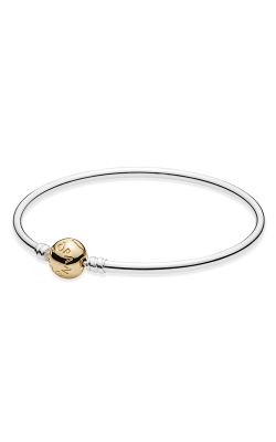PANDORA Silver Bangle Charm Bracelet With 14K Gold Clasp 590718-21 product image
