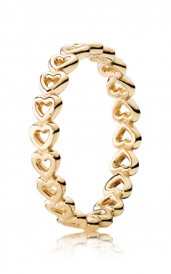 PANDORA Linked Love Stackable Ring, 14K Yellow Gold 150177-48 product image