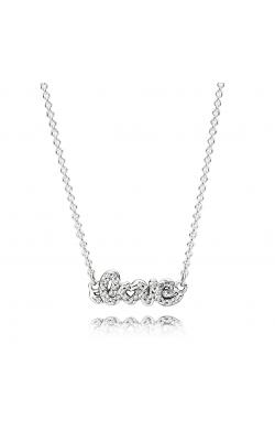PANDORA Signature Of Love Pendant Necklace, Clear CZ 590415CZ product image