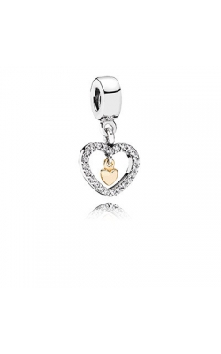 Pandora Forever in My Heart Clear CZ Dangle Charm 791421CZ product image