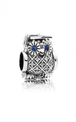 Pandora Graduate Owl Swiss Charm Blue Crystal & Clear CZ 791502NSB product image