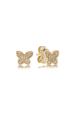 PANDORA Petite Butterfly Clear CZ 14K Gold Earrings 250320CZ product image