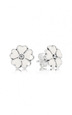 PANDORA Primrose, White Enamel Earrings 290569EN12 product image