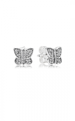 PANDORA Sparkling Butterfly Stud Earrings, Clear CZ 290571CZ product image