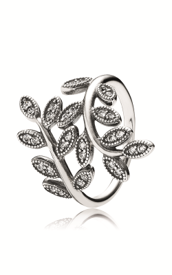 PANDORA Sparkling Leaves Ring, Clear CZ 190921CZ-60 product image