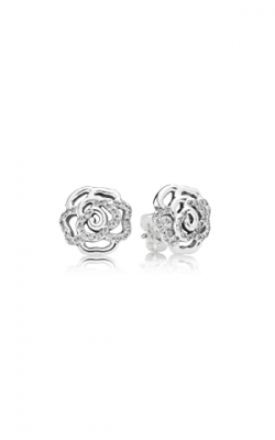 PANDORA Shimmering Rose, Clear CZ Earrings 290575CZ  product image