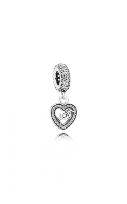 Pandora Center of My Heart, Clear CZ Dangle Charm 791521CZ product image