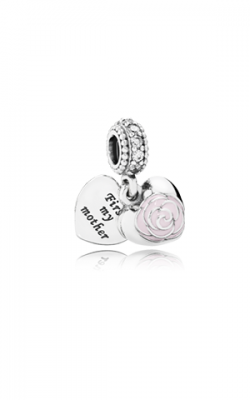 Pandora Mother's Rose Dangle Charm Pink Enamel & Clear CZ 791528EN40 product image